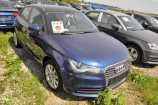 Audi A1. СИНИЙ, МЕТАЛЛИК (SCUBA BLUE)/ЧЕРНЫЙ (BRILLIANT BLACK) (S9A2)